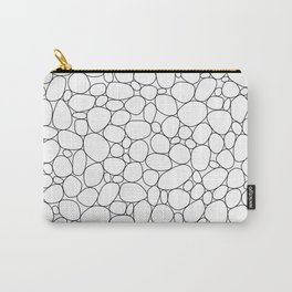 Pebbles black and white allover pattern Carry-All Pouch