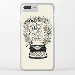 Magic Typewriter Typography Clear iPhone Case