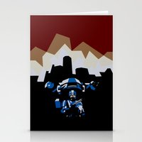 robocop Stationery Cards featuring RoboCop by iankingart