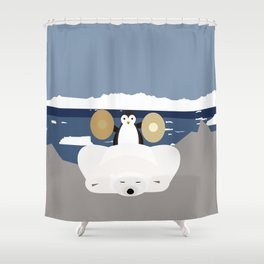 Time to get up Shower Curtain