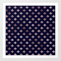 Royal Blue Rose Gold Pattern by nlmiller07art