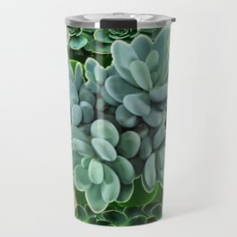 GARDEN OF GRAY-GREEN PINK SUCCULENTS Travel Mug