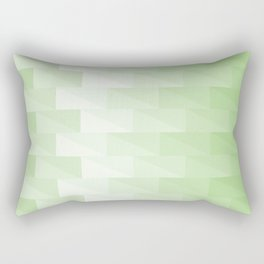 Triangles in green tones with 3d depth effect Rectangular Pillow