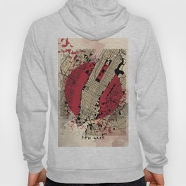 new york city map japanese style Hoody