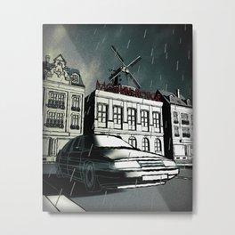 Citroen XM noir art in Paris Metal Print