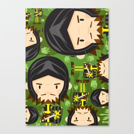 Cute Cartoon Medieval Knight Pattern Canvas Print