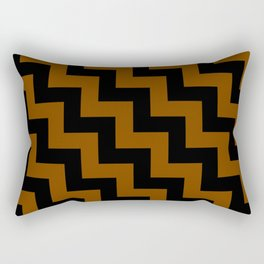 Black and Chocolate Brown Steps LTR Rectangular Pillow