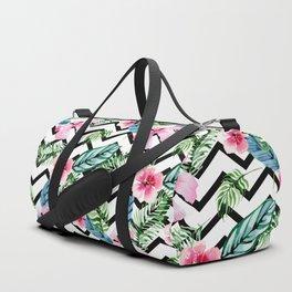 Modern flowers pattern Duffle Bag