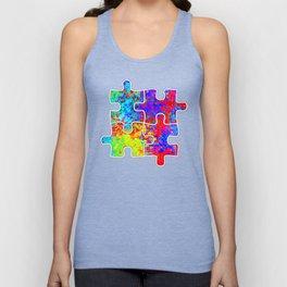 Autism Colorful Puzzle Pieces Unisex Tank Top