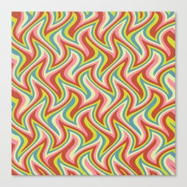 Psychedelic Zig Zags Canvas Print