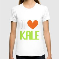vegetarian T-shirts featuring I Love Kale - Vegan & Vegetarian - Kale Love by Be Kindly