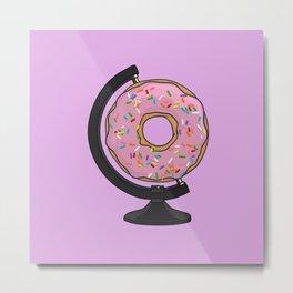 Donut Globe - The Hole World Metal Print