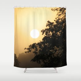 Early morning on the Shiripuno river Shower Curtain