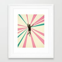 play Framed Art Prints featuring Play by Cassia Beck