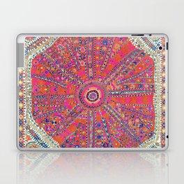 Large Medallion Suzani  Antique Uzbekistan Embroidery Print Laptop & iPad Skin