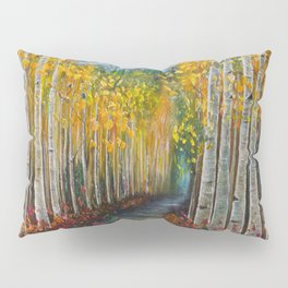 Nelly Creek painting of Uncompahgre National Forest Pillow Sham