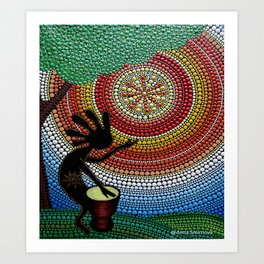 Kokopelli. God of fun and fertility Art Print