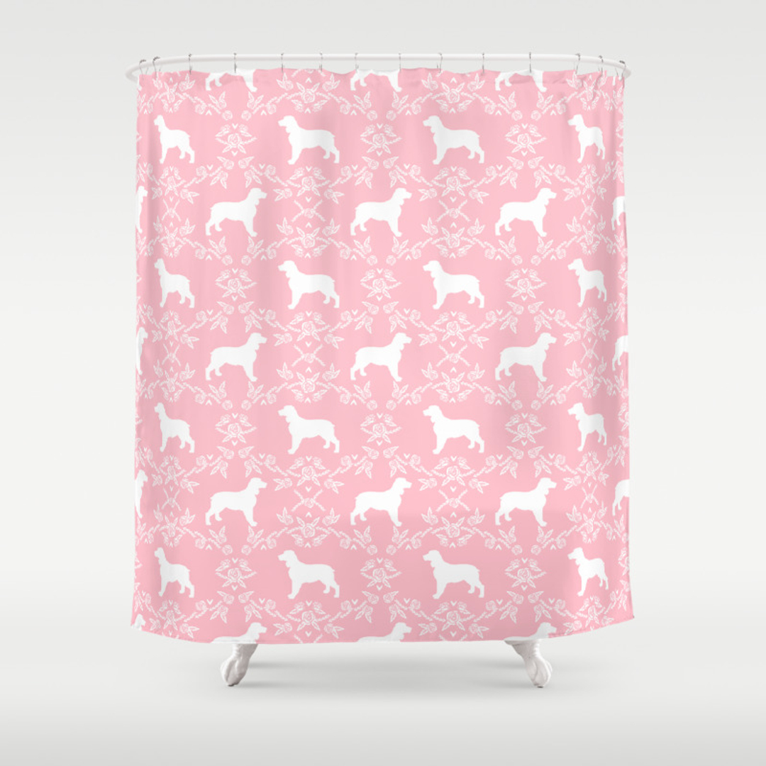Light pink shower curtain - Spaniel Shower Curtains Society6