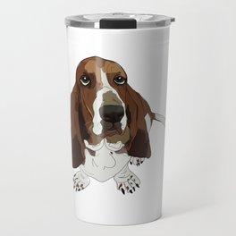 Basset Hound Dog Travel Mug
