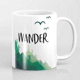 Wander, Wanderlust, Adventure Sign, Clearance Printables, Printable Art Coffee Mug