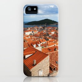 Old Town of Dubrovnik and Lokrum Island iPhone Case