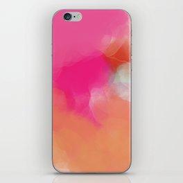dreamy days in pink peach aquarell iPhone Skin