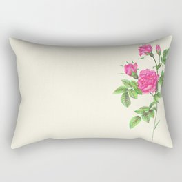 Ballpoint Pen, Redouté's Roses Rectangular Pillow