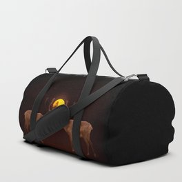 Reindeers With Moon On A Dark Purple Background #decor#buyart #society6 Duffle Bag