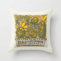 Bloom Where You Are Planted (Grow Free Series) Throw Pillow