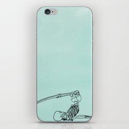 skeleton in halasana iPhone Skin