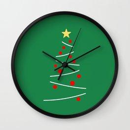 Minimal Christmas Tree Wall Clock