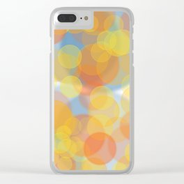 Sunny bubbles Clear iPhone Case