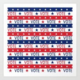 VOTE 2020 - voter pattern, voter mask, election,  Art Print
