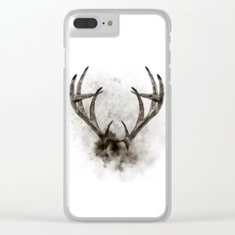 WHITETAIL DEER RACK Clear iPhone Case