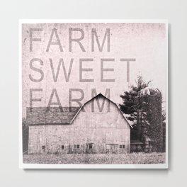 FARM SWEET FARM  Pink Version Metal Print