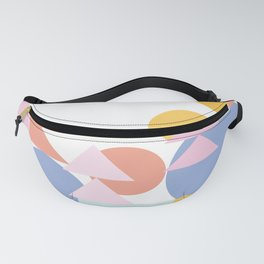 Pretty Pastel Shapes Collage Fanny Pack