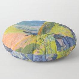 "Paul Gauguin ""Au-dessus de la mer (Above the sea)"" Floor Pillow"