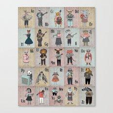 Alphabet - ABC Canvas Print