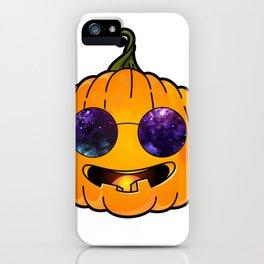 pumpkin glases iPhone Case
