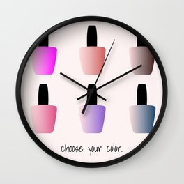 Choose Your Color Wall Clock