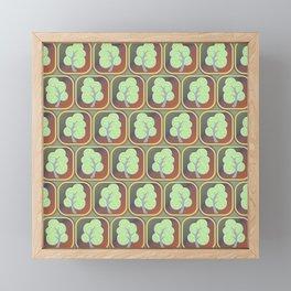 Trees tiled pattern Framed Mini Art Print