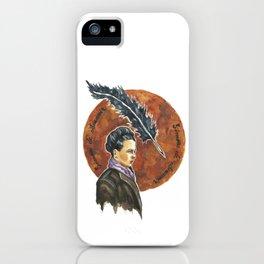 Simone de Beauvoir, retrato en acuarelas iPhone Case