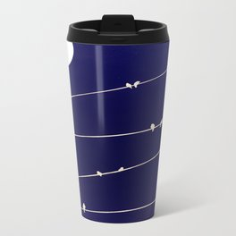 (more) birds on a Wire Metal Travel Mug