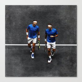 Nadal and Federer Doubles Canvas Print