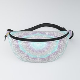 Bohemian Heaven Mandala Purple Blue White Fanny Pack