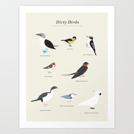 Dirty Birds Art Print