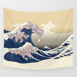 The Great Wave of Pigs Wall Tapestry