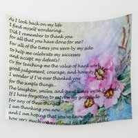 poem Wall Tapestries featuring A Mother's Day Poem by Frankie Cat