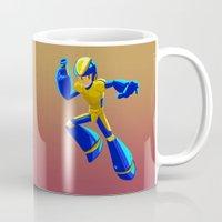 megaman Mugs featuring Bad Box Art Megaman by krls