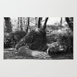 Heligan giant in monochrome Rug